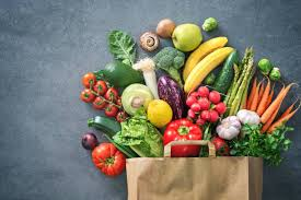photo showing bright colored vegetables